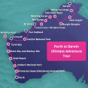 Perth to Darwin Adventure Map