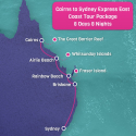 Cairns to Sydney Tour Map