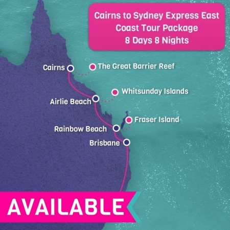 Cairns to Sydney Express East Coast Tour package
