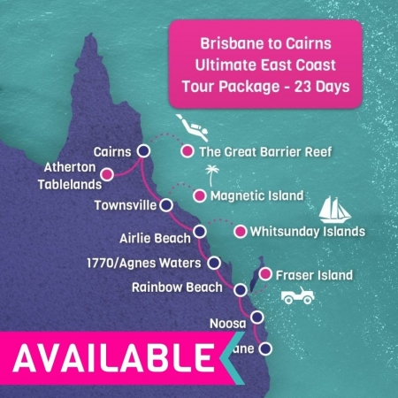 Brisbane to Cairns Ultimate east Coast Tour Package