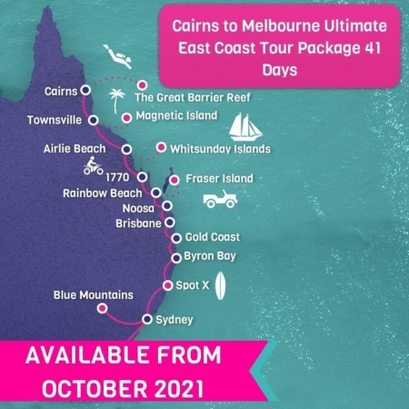 Cairns to Melbourne Ultimate East Coast Tour Package 41 days