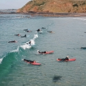 Aerial Shot Learn To Surf Phillip Island