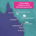 Brisbane to Cairns Tour Map