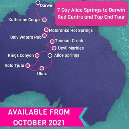 alice springs to darwin 7 day tour