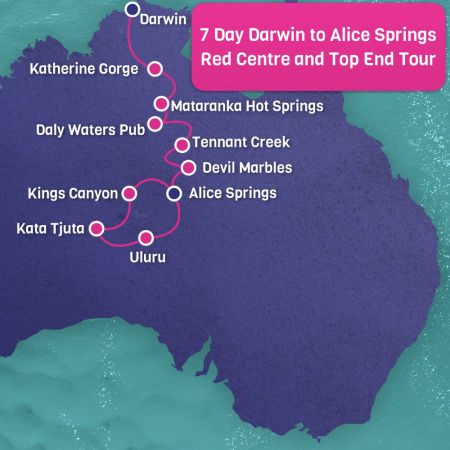 Darwin to Alice Springs Adventure Map