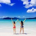 Loving the beach in the whitsundays