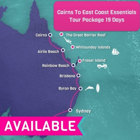 Cairns to East Coast Tour Package