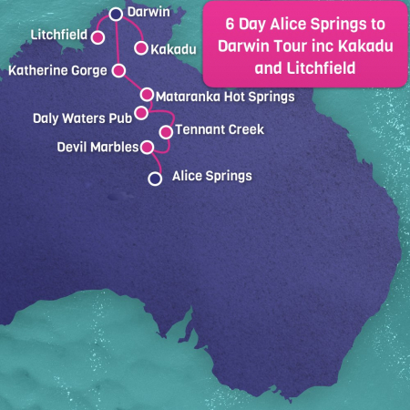 Alice Springs to Darwin Map