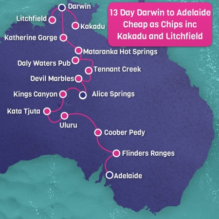 Cheap as Chips Darwin to Adelaide 13 Day