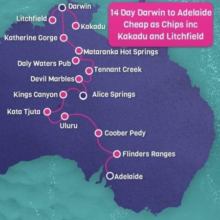 14 day darwin to Adelaide tour