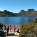 Taking Photos at Cradle Mountain