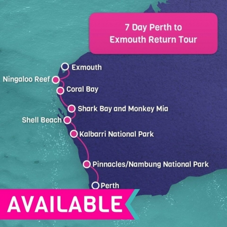 7 Day Exmouth Return Tour from Perth