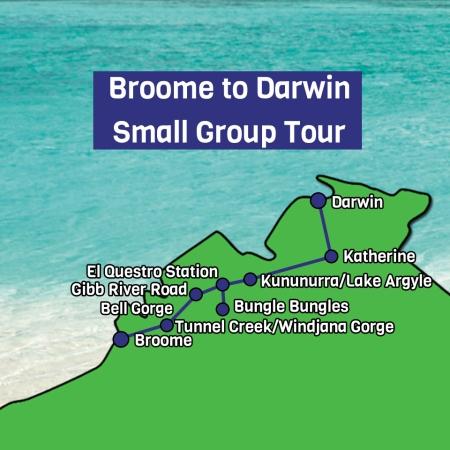 Broome to Darwin Map