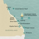 Tropical adventure Brisbane to Cairns Map