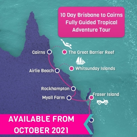 Brisbane to Cairns Fully Guided tropical Adventure Tour