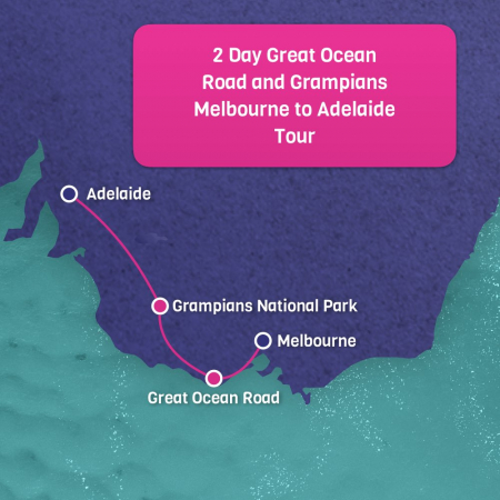 Melbourne to Adelaide 2 Day Great Ocean Road and Grampians tour