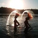 Hair flick at Lake Eacham