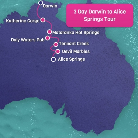 Darwin-to-Alice-Springs-3-day-tour-map