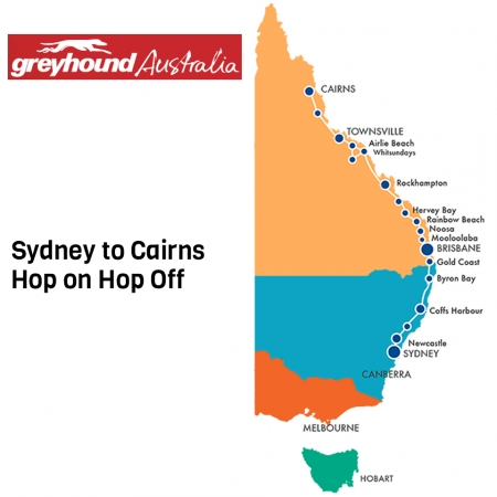 Greyhound Bus Pass Hop on Hop Off Sydney to Cairns