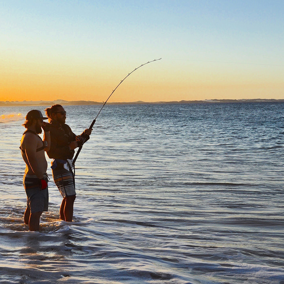 fraser island beach fishing
