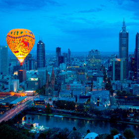 Hot Air Balloon Trip over Melbourne or the Yarra Valley